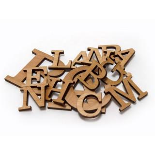 Houten letters 10cm hoog